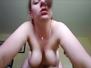 Boobs bouncing during sex in a funny way