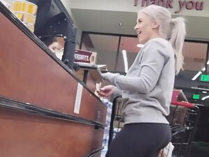 Sexy voice and amazing ass in tights
