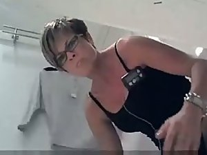 Angry milf found the hidden camera