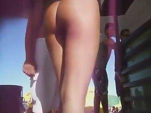 The best ass ever seen on a beach
