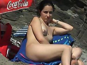 Gorgeous but sad nudist girl