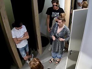 Security camera used for peeping in clothes store