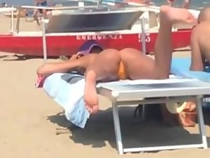 Incredible ass spotted on the beach
