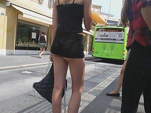 Seductive girl with a cigarette Picture 1