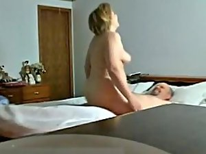 Spying mom fucking her new boyfriend