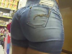 Big butt that defies gravity