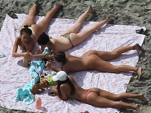 Hottest group of girls on the beach