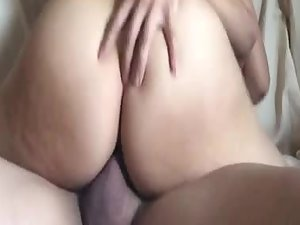 Asian girl's soft butt is like jello while she rides dick