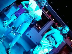Voyeur checks out hot girls in the nightclub