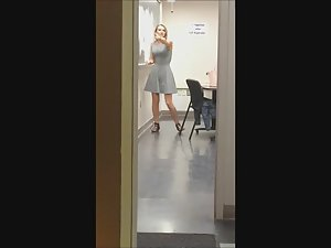 Sexy teacher filmed in the classroom Picture 1