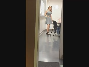 Sexy teacher filmed in the classroom Picture 2