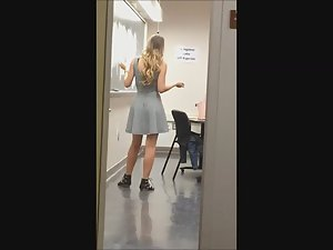 Sexy teacher filmed in the classroom Picture 8