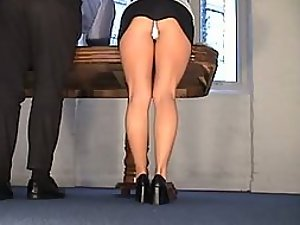 Amature secretary upskirt voyeur