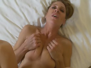 Mature woman fucked by younger guy