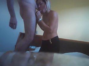 Tattooed slut doesn't know she's filmed