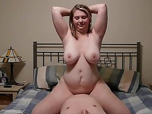 Chubby girl gets many orgasms