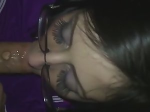 Quick face fuck for big cum facial
