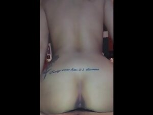 Loud music and wet pussy riding a hard dick