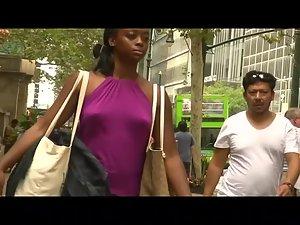 Ebony princess isn't wearing a bra Picture 8