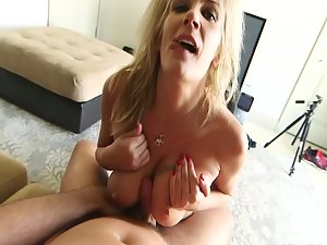 Blond milf does everything for her lover