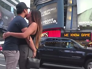 Guy finally gets a kiss and grabs her butt
