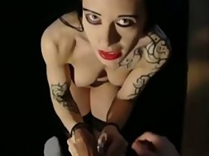 Gothic girl is horny for a cock in her ass