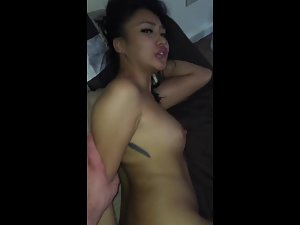 Quick video during sex with hot asian escort