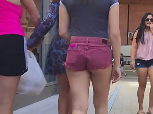 Young ass fills out shorts in a very nice way