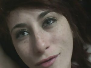 Freckles covered with cum after sex