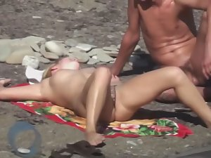 Pussy lips slip from thong bikini Picture 8