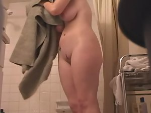 Naked sister caught in bathroom
