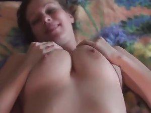 Busty girl enjoys a hard fuck