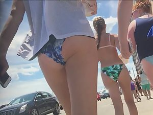 Hot group of teens in all kinds of bikinis