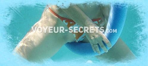 Swimming pool peeping videos