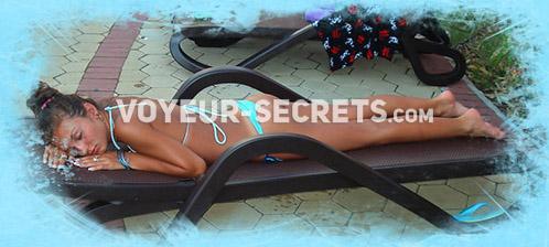 Swimming pool voyeur videos